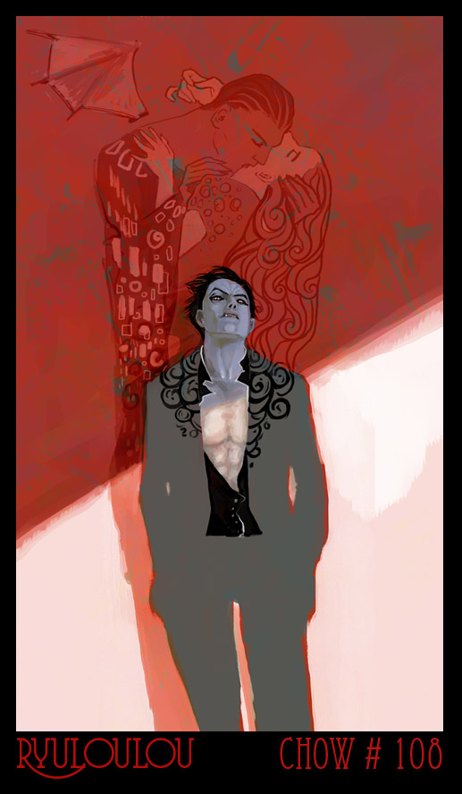 Chow 108 :: Hot Male Vampire Pinup
